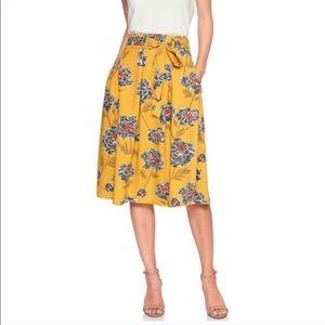 Banana Republic floral print high waist skirt